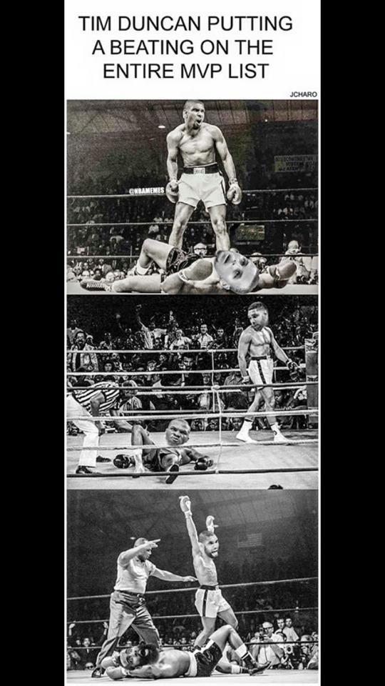 Tim Duncan beating