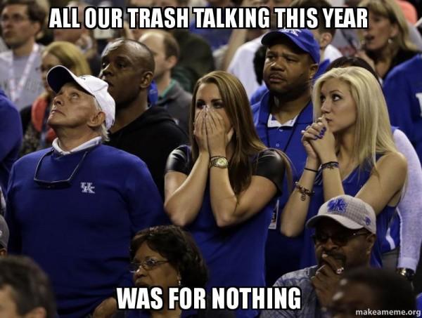 Trash talking meme