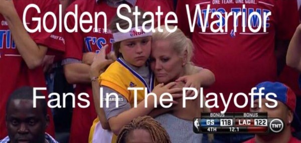 Warriors fans in the playoffs