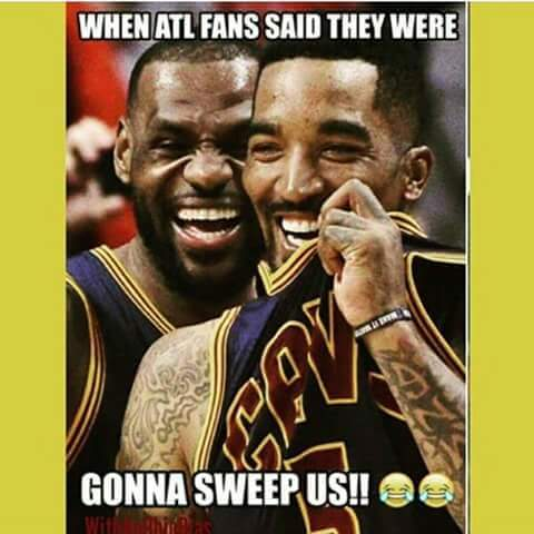 ATL fans said they were going to sweep