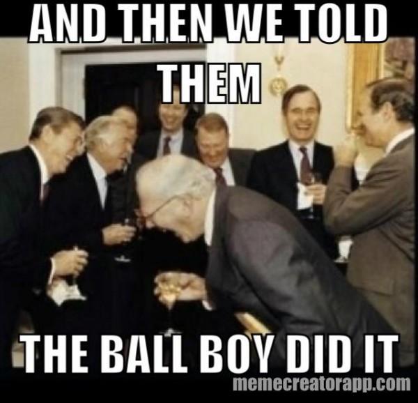 Ball boy did it
