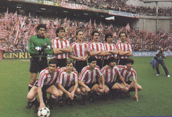 A picture from before the last match of the 83/84 season, when Athletic won the Liga title beating Real Sociedad in San Mames (2-1)
