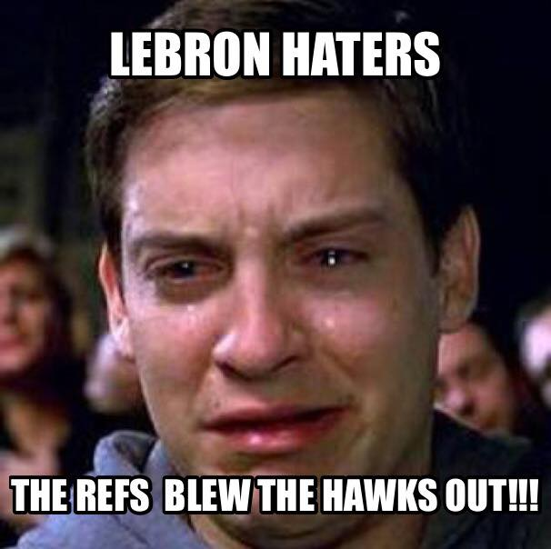 Blew the Hawks out