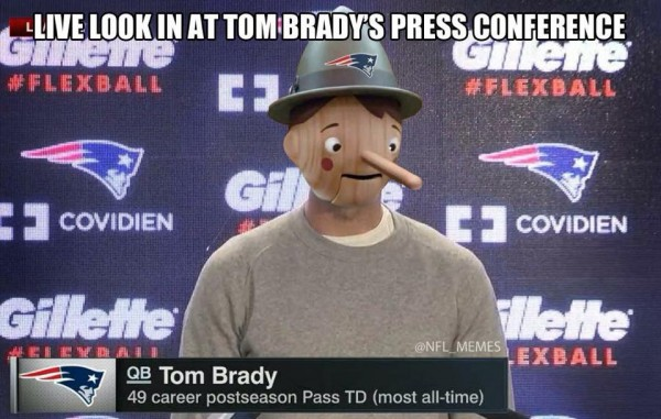 Brady at the press conference