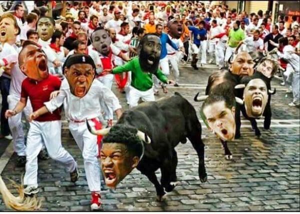 Bulls Charging