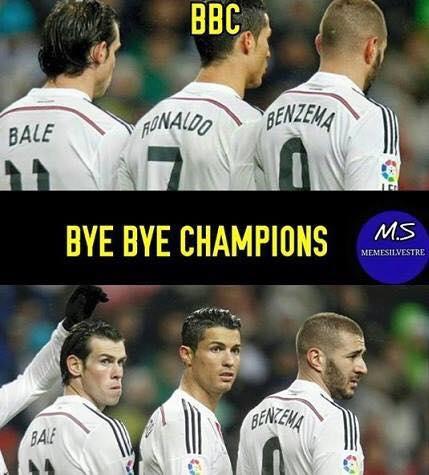Bye bye champions