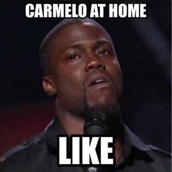 Carmelo at home