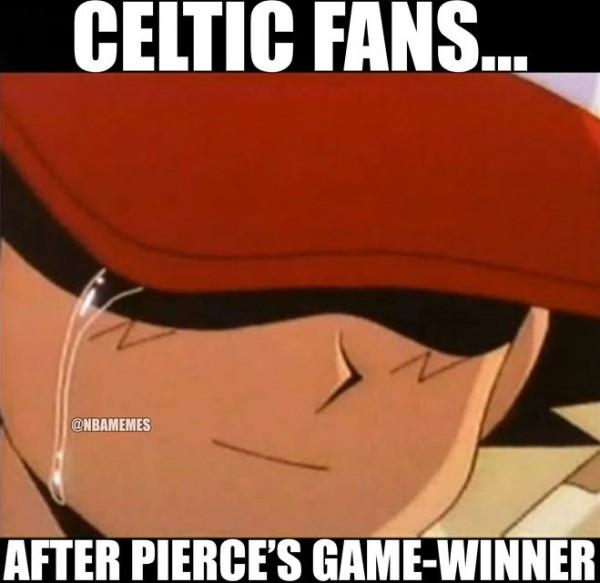 Celtics fans crying