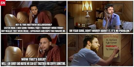 Curry & Della talk