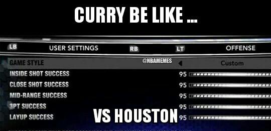 Curry vs Houston