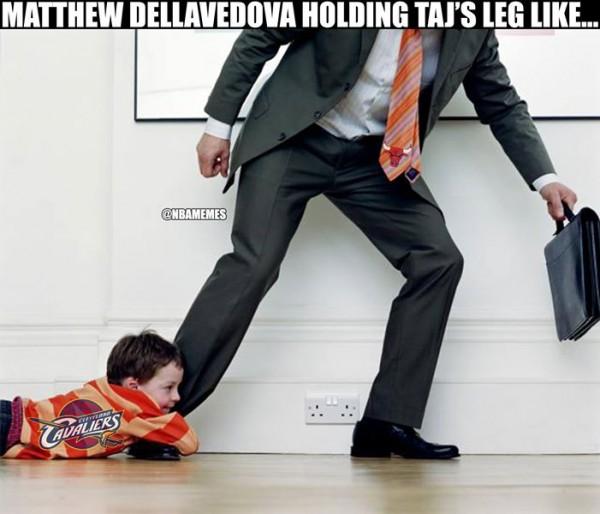 Dellavedova Gibson meme