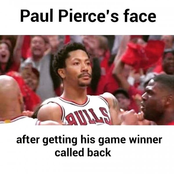 Derrick Rose as Paul Pierce