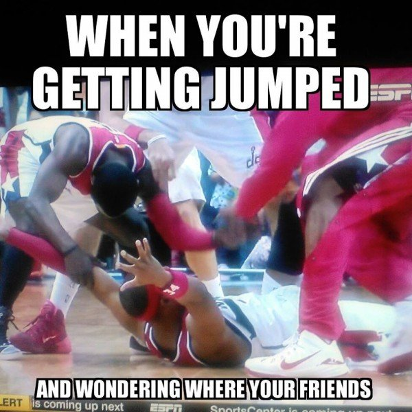 Getting jumped