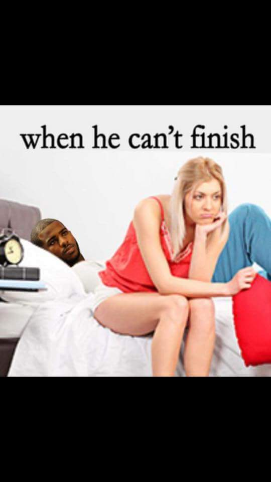 He can't finish