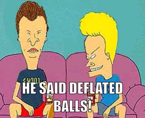 He said deflated balls