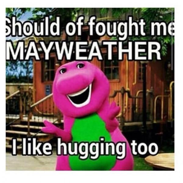 I like hugging too