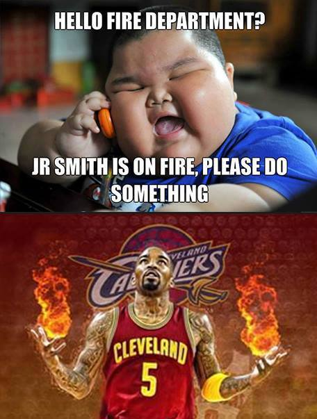 J.R. Smith is on fire