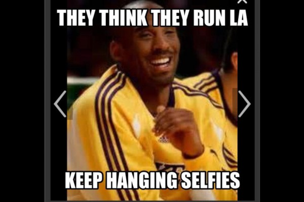 Keep hanging selfies