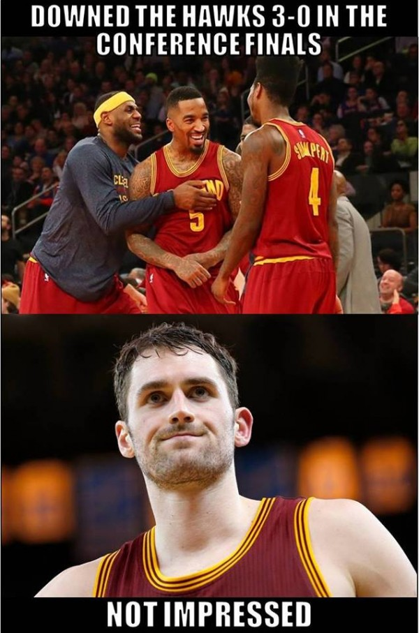 Kevin Love not impressed