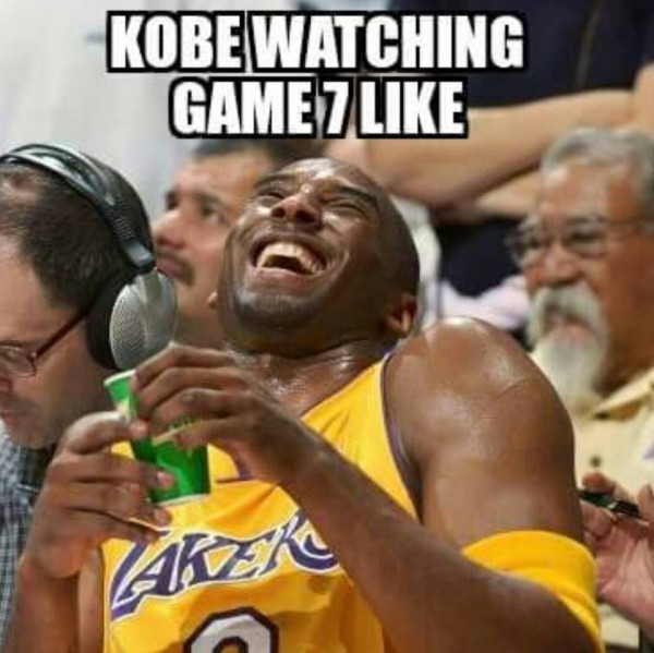 Kobe watching game 7 like