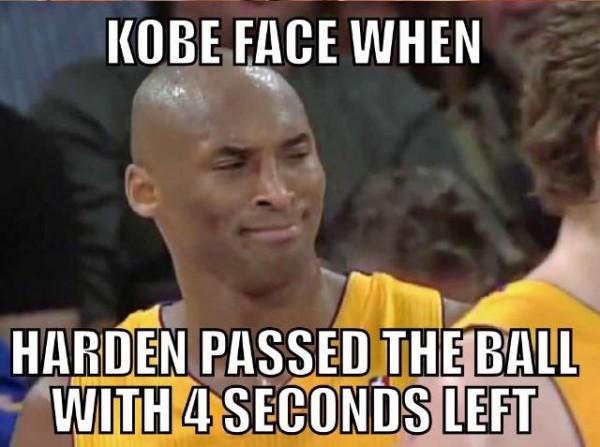 Kobe's face