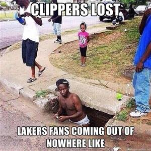 Lakers fans coming out of nowhere
