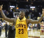 LeBron James after scoring 38 points against the Chicago Bulls in the conference semifinals