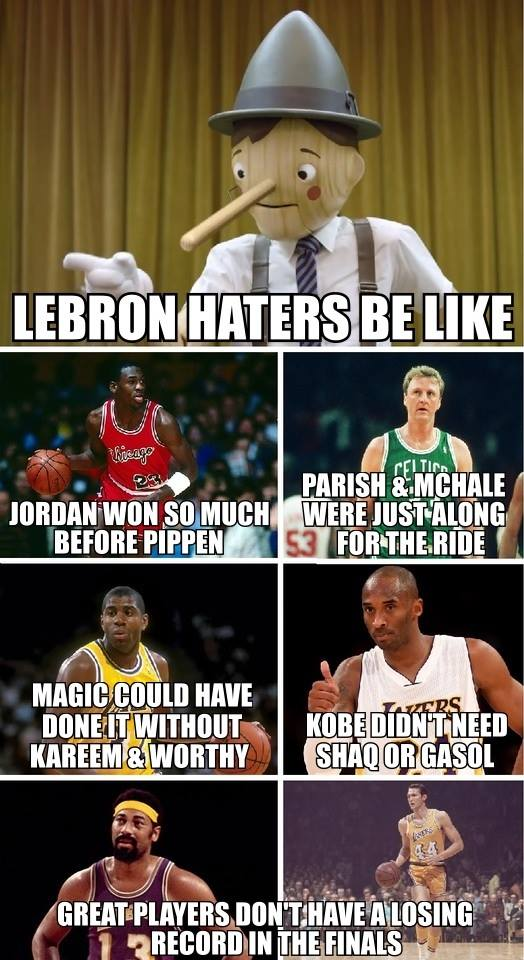LeBron haters be like