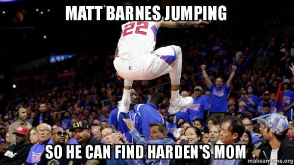 Matt Barnes jumping