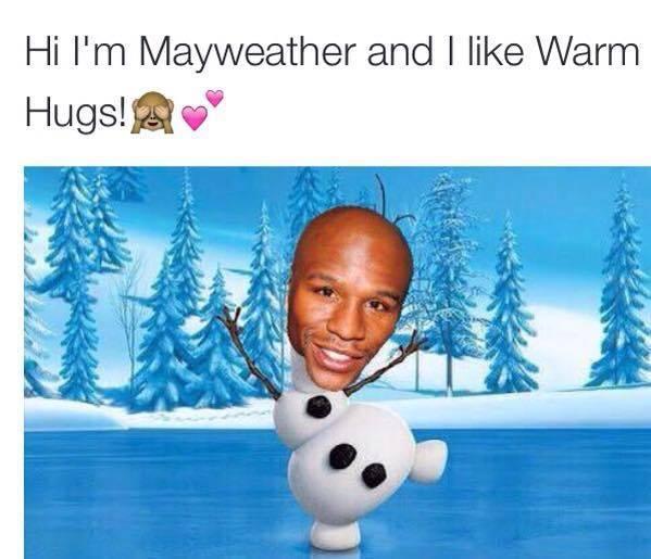 Mayweather likes hugs