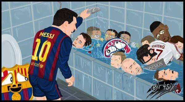 Messi bath