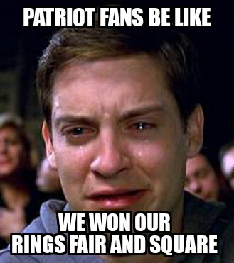 Patriots fans crying