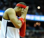 Paul Pierce hoping that if he doesn't look, they'll let his basket count