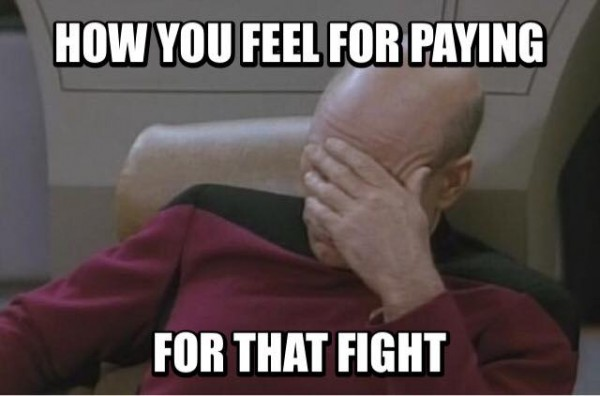 Paying for the fight