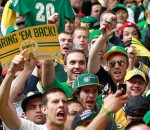 Folks hoping that shouting and dressing up in green will bring back the Supersonics
