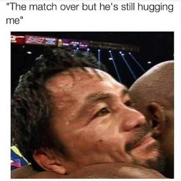 Still hugging me