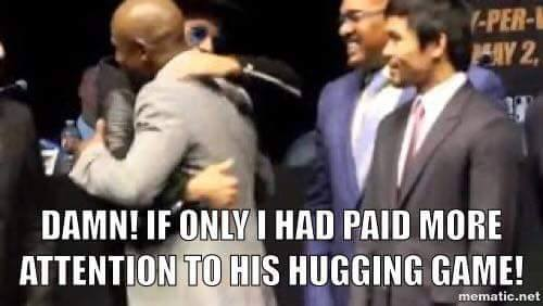 The hugging game