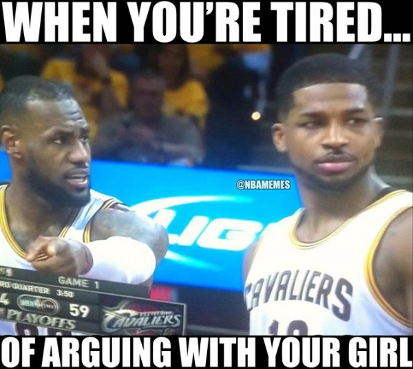 Tired arguing