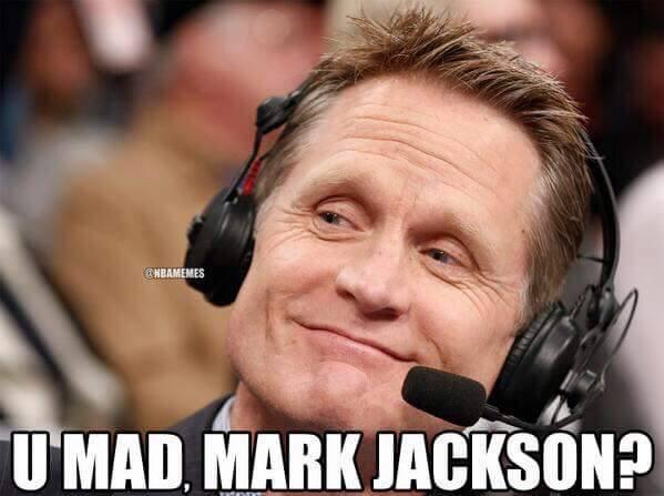 U mad Mark Jackson