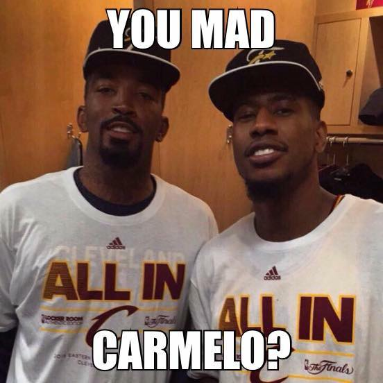You mad Carmelo