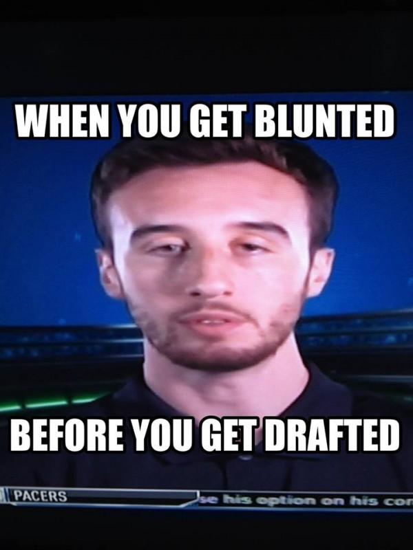 Blunting before drafting