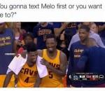 Carmelo, Smith, Shumpert meme