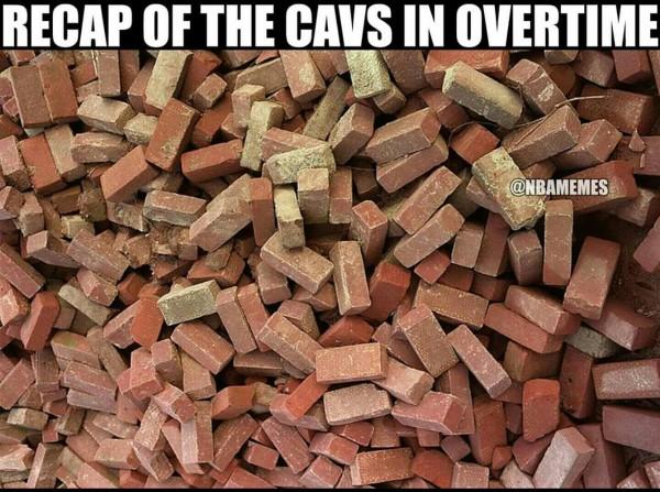 Cavs in overtime