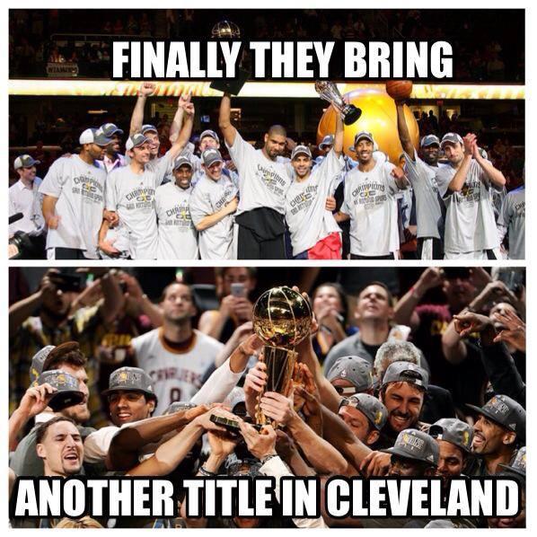 Celebrating in Cleveland