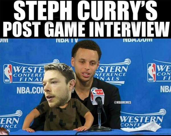 Curry Post Game interview