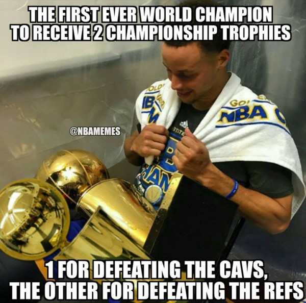 Curry Trophies Meme