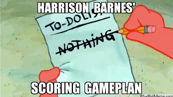 Harrison Barnes gameplan