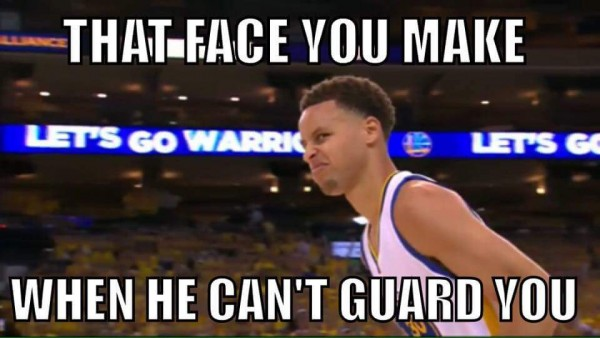 He can't guard you