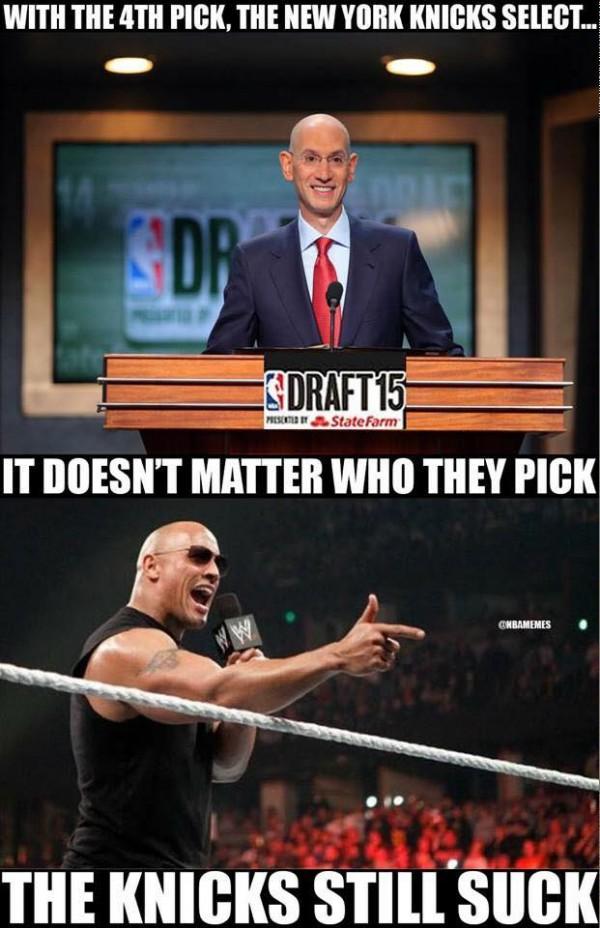 It doesn't matter who the Knicks pick