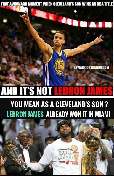 James already won a championship